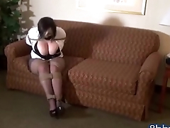 Chubby Babe with Clothes gets Bound and Gagged - 8bbw.com