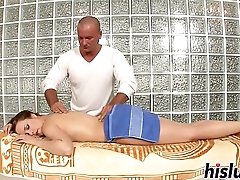 Gorgeous slim floozy gets drilled really hard