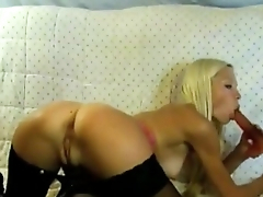 Hot Blond Slut Playing with Toy   - combocams.com