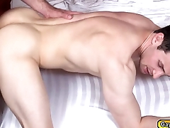 Erik sucks Alex before riding his dick
