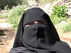 Cum on her niqab