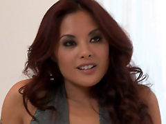 Horny Kaylani Lei gets her Asian cunt fucked hard and yawning chasm