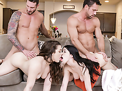 DaughterSwap - Daughters Treating Their Dads Flu With Sex