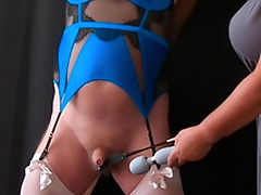 Pleasure Pain - Femdom Mistress CBT Session to Sissy Slave