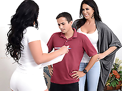 Mom Reagan Foxx tricks son Ricky Spanish, and he cums inner of her
