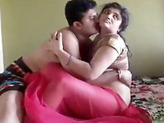 Desi Couple Romance and Fucking in Bedroom