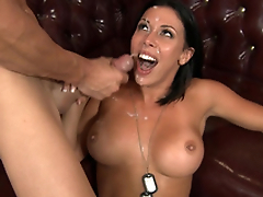 Big-tittied soldier Rachel Starr avoids arrest thanks to XXX deal