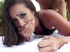 Kelsi Monroe receives maximum pleasure when XXX buddy fucks both holes