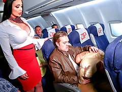 Charmer's cunt is wet like stewardess' one so MILFs tempt XXX lovers