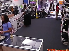 Pawnshop milf cocksucking for extra cash