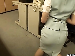 Asian slut getting fucked superior to before the office table