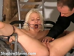 Two slaves bizarre pussy punishments and whipping to tears of amateur bdsm masoc