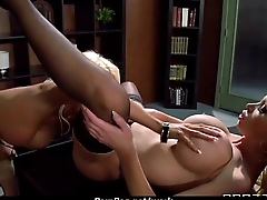Big-boobed office executive fucks her new employee 16