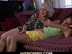 Lusty mom seduces her son'_s GF