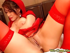 Busty Babe Plays With Sex Toy in CosPlay