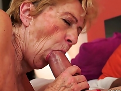 Kinky old granny Malya loves big dick