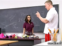 Cheerleader Fucked By Her Gym Teacher - Full vid at smallxxxHD.com